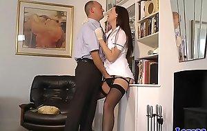 British mature nurse fingered in pussy