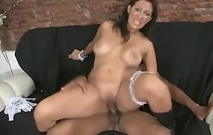 Big-dick fellow welcome a mature maid