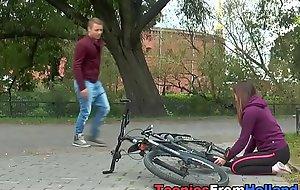 Dutch teenager cum soaked