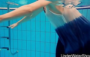 Youthful and hot teen Avenna in hammer away pool