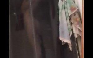 Sexy teen blonde in shower by spycam