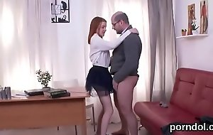 Innocent university girl is seduced and nailed away from say no to senior teacher