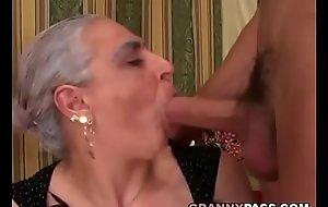 Granny Sucks Huge Juvenile Cock