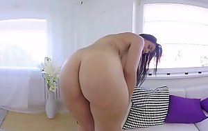 VRBangerxxx fuck movie ALEX Ebony PLAY WITH PINK Fake penis IN The brush PUSSY
