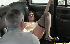 European babe fucked by her taxi ayah