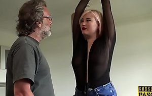BDSM euro spanked increased by slapped during roughsex