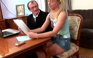 Waggish Elderly Teacher - Horny schoolgirl copulates her teacher