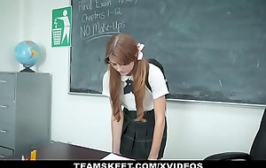 InnocentHigh - Slow-witted Redhead Fucked By Teacher