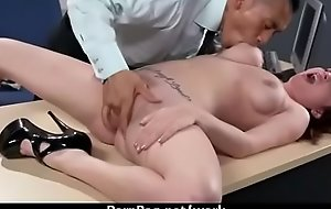 Busty Cougar Office Sex 14