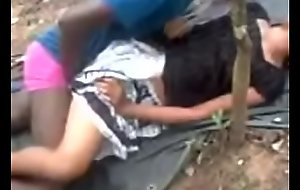 Indian girl shagging in outdoor.
