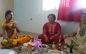 Village Aunties enjoying pack with wine than shagging with will not hear of husbands... HD