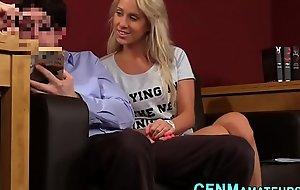 Clothed blonde amateur