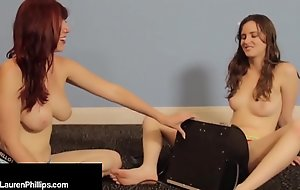Ruby RedHead Lauren Phillips Does Sybian Dick w/ Fribble with a play Taylor!