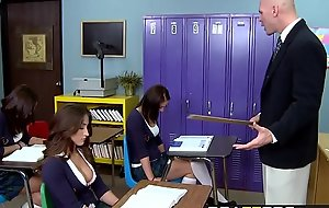 Brazzers - Big Tits at School -  A Rumor That Goes Around, Cums Around At bottom Your Tits scene starring L