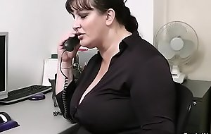 Office sex with busty scrivener in stocking
