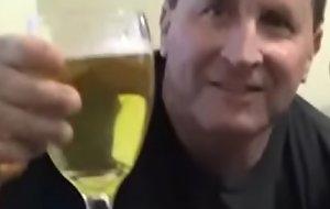 Demented Sissy Pervert Tom Pearl Drinks His Void urine