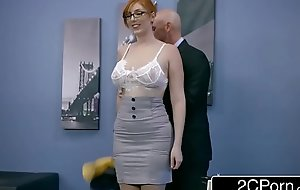 Ginger Bimbo Lauren Phillips Gets Pounded At Work