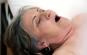 Old Victorian pussy filled with young cock