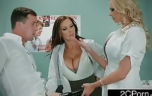 Obscene Nurse Threesome Relating to One Lucky Scrounger - Nikki Benz, Briana Banks