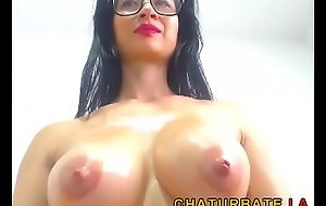 Broad in the beam Oiled Boobs of a Busty Brunette Milf from tube movie chaturbate.la