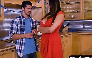 Luscious stepmom pounded in the kitchen