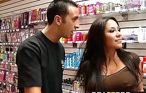 Pornstars Like it Big -  Porn Store Pornstar scene vice-chancellor Jenaveve Jolie coupled with Keiran Lee