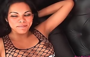 Busty transsexuals jizzing on their male lovers