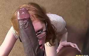 Redhead April Turner Takes Huge Baneful Cock