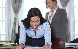Sexy Secretary Drilled By Boss On touching Strap-on Dildo