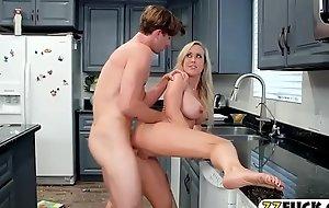 Busty stepmom Brandi Exalt pounded hard