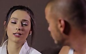 Jaye Summers does nuru massage on the top of a gym guy