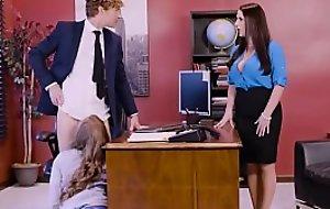 Big Jugs at one's fingertips Work - Porn Logic scene vice-chancellor Angela White, Lena Paul &amp_ Michael Vegas