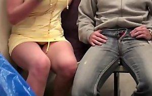 Extreme teach underground railway intercourse trine just about big tits star Stella Fox and 2 big guys