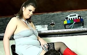 Fat stockinged femdom facesitting first of all her sub