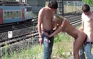 Girl with golden barb acquiring facial cum from their way boyfriend porn video friend everywhere public