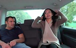 Thai kneading in driving car turns to wild hardcore fuck