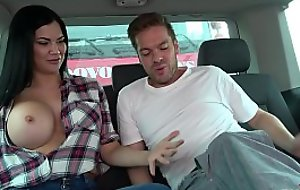 Ryan Ryder convince young innocet sweet Jasmine Jae wide lady-love down driving fore-part