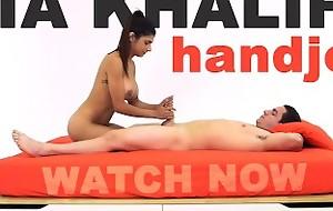 MIA KHALIFA - Arab Goddess Performs Expert Offset Handjob On Peter Unfledged