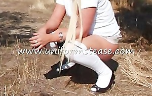 schoolgirl pissing knickers near mini skirt more teen cute X-rated