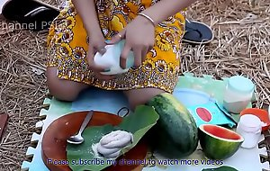 Woow!! Beautiful angels cooking Water Snake with watermelon HD