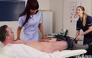 Femdom nurses sucking