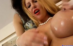 Brit stockinged milf masturbates in the matter of les duo