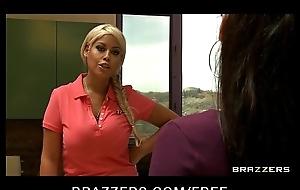 Dominant big-tit wife Bridgette B fucks her Latina maid Reena Tone