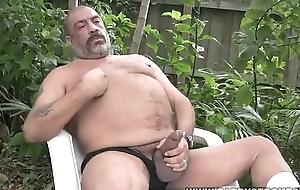 Joe Jerks His Fat Requisites Outside