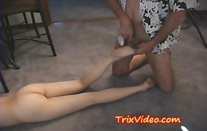Teen babe SLAPS her Dad
