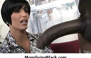 Super interracial sex unpredictable intensify MILF going to bed jet-black dude 30