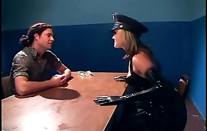 Naughty female policewoman shagging in latex lingerie