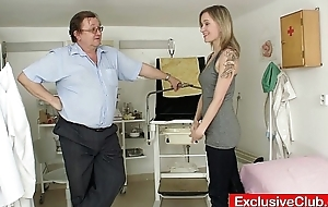 Petite babe Scarlet harrassed by gyno dilute