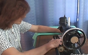 That guy bangs sewing granny