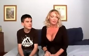Consolidated schoolboy bonks mom harder than his father, Mom satisfied